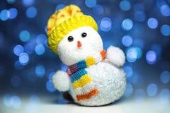 Juguete del muñeco de nieve de la Navidad Fotos de archivo