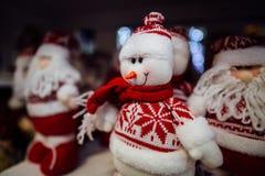 Juguete del muñeco de nieve de la Navidad Imagen de archivo