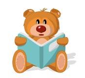 Juguete del oso con el libro stock de ilustración