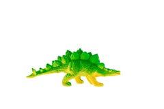 Juguete del plástico del dinosaurio del Stegosaurus Fotografía de archivo