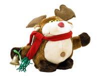 Juguete del reno de la Navidad Fotografía de archivo libre de regalías