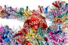 Juguete del rojo de la Navidad Imágenes de archivo libres de regalías