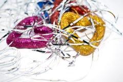 Juguete del ` s del Año Nuevo Una foto de un juguete del ` s del Año Nuevo para adornar un árbol de navidad por un día de fiesta Imagen de archivo