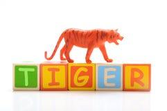 Juguete del tigre Foto de archivo libre de regalías