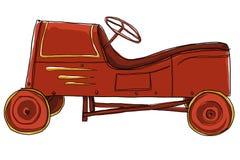 Juguete del vintage del coche del pedal Imagen de archivo