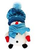 Juguete divertido del muñeco de nieve Foto de archivo libre de regalías