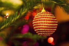 Juguete en el árbol de navidad Imágenes de archivo libres de regalías