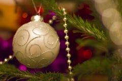 Juguete en el árbol de navidad Imagen de archivo libre de regalías