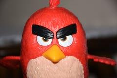 Juguete enojado del rojo de los pájaros Fotografía de archivo