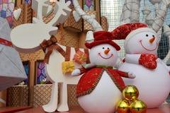 Juguete feliz de la historieta en la Navidad Imagenes de archivo