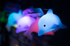 Juguete fluorescente del delfín Imágenes de archivo libres de regalías