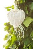 Juguete hecho a mano del corazón Imagen de archivo libre de regalías