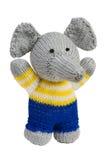 Juguete hecho a mano del knit, elefante fotos de archivo