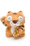 Juguete hecho a mano del tigre del animal relleno Fotos de archivo
