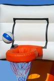 Juguete inflable colorido del baloncesto Imagen de archivo libre de regalías