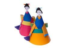 Juguete-muñeca de papel de los niños Fotos de archivo libres de regalías