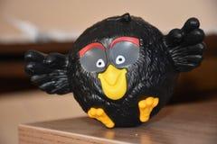 Juguete negro de los pájaros enojados Foto de archivo libre de regalías