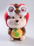 Juguete o año chino de los juguetes de los niños de los peluches del mono Foto de archivo
