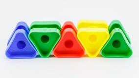 Juguete plástico colorido Fotografía de archivo libre de regalías