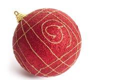 Juguete rojo de la Navidad Fotografía de archivo libre de regalías