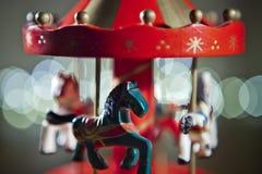 Juguete rojo del carrusel Fotografía de archivo libre de regalías