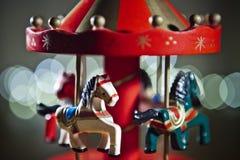 Juguete rojo del carrusel Imagen de archivo libre de regalías