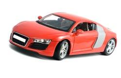 Juguete rojo del coche Fotografía de archivo libre de regalías