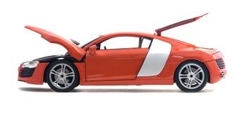 Juguete rojo del coche Fotos de archivo