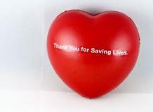 Juguete rojo del corazón Fotografía de archivo