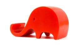 Juguete rojo del elefante Foto de archivo