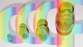 Juguete ruso 1 de la muñeca Imagen de archivo