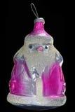 Juguete ruso del vidrio del vintage del ornamento de Navidad Imagen de archivo