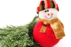 Juguete sonriente del hombre de la nieve fotos de archivo libres de regalías