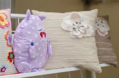 Juguete suave colorido de la almohada para el bebé Fotografía de archivo libre de regalías
