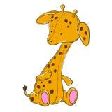 Juguete suave de la jirafa linda Fotos de archivo libres de regalías