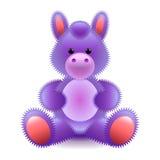 Juguete suave del caballo púrpura lindo aislado en el vector blanco Imagen de archivo libre de regalías