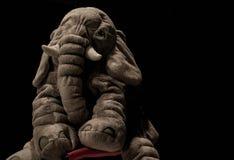 Juguete triste del elefante Imágenes de archivo libres de regalías