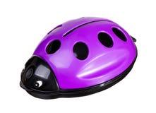 Juguete violeta plástico de la mariquita Foto de archivo