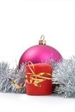 Juguete y vela del Año Nuevo Foto de archivo libre de regalías