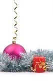 Juguete y vela del Año Nuevo colgante Imágenes de archivo libres de regalías
