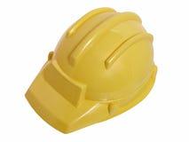 Juguetes: Casco amarillo de la construcción Fotos de archivo