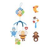Juguetes coloreados para los niños Imagen de archivo libre de regalías