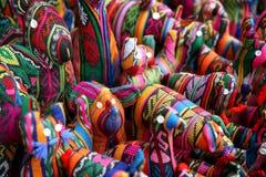 Juguetes coloridos de la materia textil Imagen de archivo