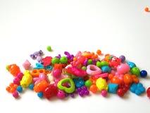 Juguetes coloridos del bebé foto de archivo