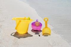 Juguetes de la arena Fotografía de archivo libre de regalías