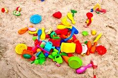 Juguetes de la arena Fotos de archivo