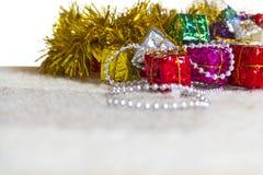 Juguetes de la decoración de la Navidad Fotografía de archivo