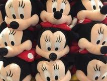 Juguetes de la felpa de Minnie Mouse Fotos de archivo