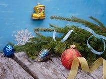 Juguetes de la Navidad Fotografía de archivo libre de regalías