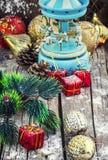 Juguetes de la Navidad de la herencia para el día de fiesta Foto de archivo libre de regalías